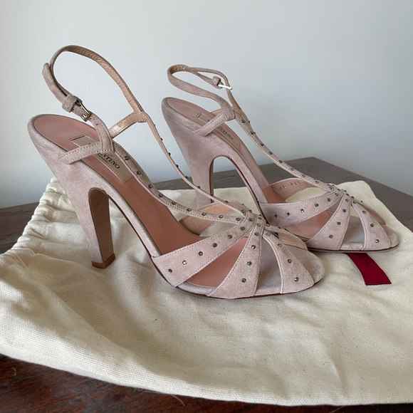 Valentino Shoes   Suede Studded Heels